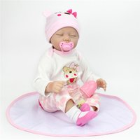 Wholesale 12 inch figures - DOLL 55 CM 22 inch Dolls Reborn Silicone Baby Dolls For Sale Lifelike Dolls For Girls Handmade Doll Baby Real Kids Playmate Gifts