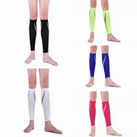 Wholesale Knee Support Leggings - Outdoor Sport Pressure Socks Leggings Calf Compression Sleeve Socks For Basketball Football Running Support FBA Drop Shipping G473Q