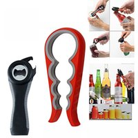Wholesale bottle jam - 5 In1 And 4 In1 Multifunction Bottle Opener Tin Jar Can Jam Wine Opener With Seals Lids For Seniors Kitchen Bar Tool WX9-355