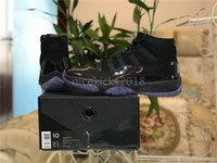 Wholesale design basketball shoes men sports online - Hot Sell Cheap Best Basketball Shoes Blackout Comfort XI s Athletic Sport Shoes Mens Womens Designs Black Trainers Running Sneakers