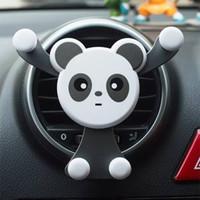 hava yastığı tutucu toptan satış-Evrensel Araba Smartphone Standı Tutucu Araba Hava Firar Cep Telefonu Tutucu Panda Şekli Sevimli Evrensel