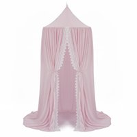 Wholesale chiffon color types for sale - Group buy Summer Chiffon Bed Curtain White Lace Dome Canopy Mosquito Net Three Color Door Type Bracket Steel Wire Fabric Cozy Translucent Curtain