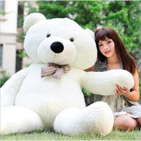 Wholesale Brown Huge Teddy Bear - New Arriving Giant 180CM 70''inch TEDDY BEAR PLUSH HUGE SOFT TOY 1.8m Plush Toys Valentine's Day gift  Birthday gifts  New Year's OTH750