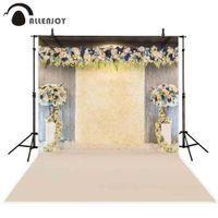 güzel romantik çiçekler toptan satış-Allenjoy arka planında fotoğraf stüdyosu için Güzel çiçekler duvar düğün töreni dekorasyon Romantik zemin yeni photocall
