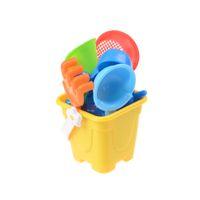 cubos de arena de playa al por mayor-Juguetes de playa Juguetes de arena Arena de agua Juego de juguetes de playa Juego de arena 7pcs Kids Seaside Bucket Pala Rake Kit Más nuevo