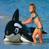 Wholesale inflatable ride animals - Heavy Duty Intex Inflatable Great White Shark Rider Ride On Beach Water Toy Inflatable Swimming Pool Shark Floater