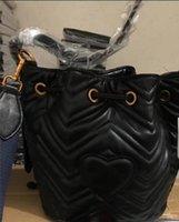 сердцевина ведра оптовых-Горячие продажи Моды новый дизайнер Мармон сердце ведро плеча сумки кошелек HANDABGS