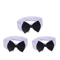Wholesale large dog bow tie - Cotton Bowtie Collar Cute Adjustable Dog Cat Tie Durable Resuable Eco Friendly Puppy Cravat Top Quality 4 71jz B