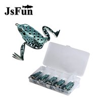 Wholesale sets saltwater lures for sale - Group buy 5Pcs Frog Lure set mm g Snakehead Lure Topwater Artificial Frog Fishing Lure Soft Bass Bait With Storage box FU404