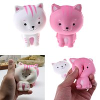 Wholesale pussy straps for sale - Group buy Lovely Kawaii Cat Pussy Squishy Slow Rising Phone Straps Accessories Soft Squeeze Animal Bread Charms Scented Kid Toy Gift