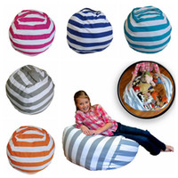 Wholesale Wholesale Bean Bag Beds - 5 Colors 18 inch Home Storage Bean Bags Beanbag Chair Kids Bedroom Stuffed Animal Organizer Bag Plush Toys Baby Play Mat CCA8938 50pcs