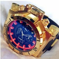 Wholesale Large Silicone - Popular high-quality small pointer can work DZ7333 outdoor sports calendar quartz men's watches INVICTA 5.1 rotating large dial
