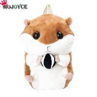 küçük kız oyuncakları toptan satış-Hamster Peluş Sırt Çantası Sevimli Japon Peluş Hamster Sırt Çantası Peluş Hamster Çocuklar Oyuncak Boys Küçük Kızlar Için Okul Çantası Hediye