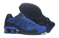 Wholesale Fahion Shoes - Fahion Shox OZ KPU Running Shoes Men Shox White Gold Black Shox OZ Zapatillas Hombre Trainers Sneakers Outdoor Sport Shoes