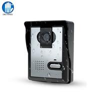 interkom sistemi video toptan satış-Ücretsiz Kargo Görüntülü Kapı Telefonu Sistemi Açık CMOS Gece Görüş Kamera Ünitesi görüntülü interkom Kapı Erişim Kontrolü Için
