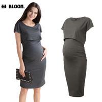 df023938321 Elastic Tencel Summer EleOffice Lady Vestidos Loose Maternity Dresses  Pregnancy Clothes No Nursing Dress for Pregnant Women