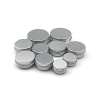 salben cremes großhandel-5 10 15 20 30 ml Leere kosmetische Aluminiumbehälter Topf Lippenbalsam Glasdose Für Cremesalbe Handcreme Verpackungsbox