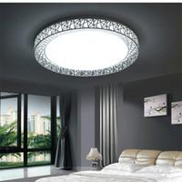plafones de baño cuadrados al por mayor-Luces de techo LED de montaje en superficie redonda modernas accesorio de iluminación de la lámpara de techo cuadrada para sala de estar Dormitorio Cocina Baño