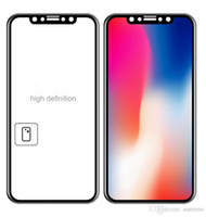 Wholesale Curved Glass Frames Wholesale - Screen Protector 3d Curved Edge to Edge Full Coverage Tempered Glass with Soft PET Frame for iPhoneX Hybrid Protector Film