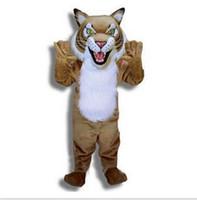personagem fantasia venda por atacado-Hot on a venda de tigre Mascot Costume Adult Size Personagem de Banda Desenhada Carnaval Partido Outfit Suit Fancy Dress