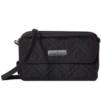 Wholesale wristlet cartoons online - Classic black RFID All in One Crossbody wristlet New with tags