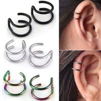 Wholesale rock alloy earring for sale - Group buy Shuangr Fashion Pair Style Punk Rock Ear Clip Cuff Wrap Earrings No Piercing Clip Hollow Out U Pattern Statement Jewelry For Women