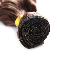 ingrosso grandi estensioni dei capelli d'onda-Un grande sconto Deep Wave Virgin Hair Extensions 100% capelli umani tessitura 10-30 pollici prodotti di capelli Remy 100 g / 1 pz 6a non trasformati doppia trama