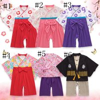583f1d3d3f65 6 styles New Spring Autumn Cute Baby Girls Japanese Kimono Rompers Infants  Children Floral Bow Long Sleeve Clothing Kids Jumpsuits 379