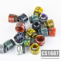 Wholesale beautiful package design - CS1607 Resin Driptips For RDA RTA RDTA Connector Diameter=12.5mm With Individual Packaging Super High Quality Beautiful Design