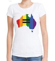 Wholesale map o - Equality Australia Women T Shirts Short Sleeve O-Neck Tee-Novelty Australia Map Printed T Shirt Simple Style Basic Tops