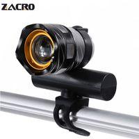 zoom fahrrad großhandel-Zacro Fahrrad Lampe Wiederaufladbare Led Radfahren Fahrrad Fahrrad Licht T6 Freies Zoom 3 Modi Schnellladung Für Fahrrad Velofonar