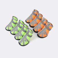 свободная обувь для собак оптовых-водонепроницаемая обувь для собак Обувь для собак Обувь для собак для собак светоотражающая противоскользящая обувь Бесплатная доставка для наружного