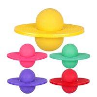 ingrosso palle di salto gonfiabili-Giocattoli adulti per bambini Multi-colori Balance Bouncing Jumping Balls PVC gonfiabile dimagrante palla Sport esercizio attrezzature per il fitness