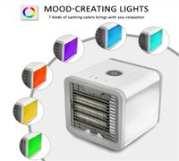 Wholesale usb portable device - USB Artic Air Cooler Fan Personal Space Cooler Portable Desk Fan Mini Air Conditioner Device Cool Soothing Wind For Home Office