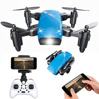 Wholesale wifi camera light online - S9 Foldable GHz Axis Wifi Real Time Transmission Drone Headless One Key Return RC UFO Aircraft Without Camera With light