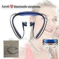 Wholesale u music online - New arrival EO BG920 Level U earphone mini neckband v4 csr chip music headset with microphone hifi handfree sports inear earplug