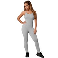 7ff2b81a7 Summer Sport Yoga Set Sexy Backless Women Fitting Jumpsuit Gym Running Ropa  Deportiva Traje Entrenamiento Ropa Running Fitness