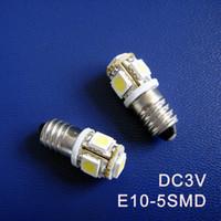 Wholesale Pilot Led Lights - High quality DC3V E10 Led Warning Signal Indicating Lamp 3V Pilot lamp Instrument Light pinballs Bulbs free shipping 5pcs lot