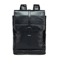 Wholesale Leather Fashionable Backpacks - Fashionable backpack Men and women with large capacity backpack leather bag free shipping 100% genuine leather men backpacks