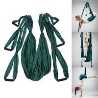 ingrosso swing yoga anti gravità-Tessuto paracadute antigravità Cuscinetto di grandi dimensioni Yoga Hammock Altalena Yoga Altalena Tessuto elastico Multifunzione Peso cintura anti-gravità