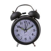Wholesale Silent Alarm - Hot Sale Alarm Clock Classical Double Bell Silent No Ticking Desk Table Alarm Clock Bedroom Office Bedside Clock