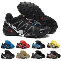 лучшие кроссовки для бега трусцой оптовых-2018 Salomon Peedcross 3 Trail лучшее качество мужчины открытый дешевые кроссовки бег трусцой спортивная мода кроссовки открытый ходьба US7-US12.5