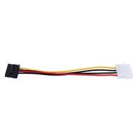 cabo sata grátis venda por atacado-Serial ATA SATA 4 Pinos IDE para 15 Pinos HDD Adaptador de Alimentação Adaptador de Disco Rígido Cabo Macho para Fêmea Frete Grátis