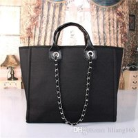 große einkaufstaschen großhandel großhandel-Großhandel und Einzelhandel Mode klassische Marke große Leinwand Einkaufstaschen, 47 cm lang, 18 cm breit, 33 cm hoch, kostenlose Lieferung 966.