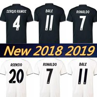 Wholesale bale real madrid - Real madrid 2019 RONALDO ASENSIO BALE ISCO Home away soccer jersey RAMOS BENZEMA shirt 2018 Camiseta real madrid football kit jerseys