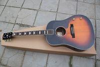 Hot selling J160E70th Anniversary John Lennon reclaimed folk electric box acoustic guitar