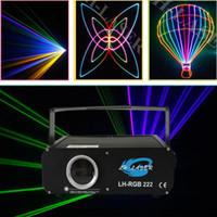 licht zeigt großhandel-500mW RGB Animation Analog Modulation Laserlicht Show / DMX, ILDA Laser / Disco Licht / Bühnenlaser Projektor
