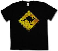 vintages t-shirt hip hop großhandel-T-SHIRT KANGAROOS-KREUZ-WEINLESE-LOGO-ZEICHEN Kanguru-Geschenk-Druck-T-Shirt Hip Hop-T-Shirt NEUE ANKUNFT-T-Shirts kausal