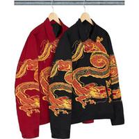 frauen-arbeitsplatten großhandel-18FW Dragon Arbeit Jacke Jacke Retro High Street Fashion Top Qualität Casual Männer Und Frauen Paar Jacke HFWPJK109