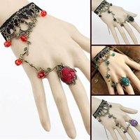 ingrosso braccialetto della catena del merletto nero-Lolita per le donne